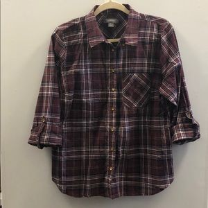 Primark maroon plaid shirt